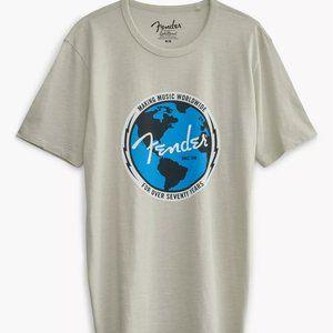 Lucky Brand Fender World T-Shirt Mens New NWT